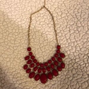 Red/Gold Statement Necklace
